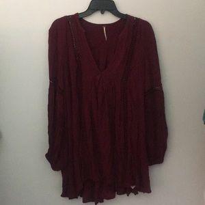 Free People burgundy tunic